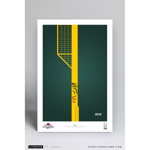 Photo of Boston Red Sox 2018 World Series Champions Commemorative Minimalist Art Print by S. Preston