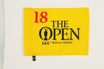 Photo of The 145th Open Official Souvenir Pin Flag - Royal Troon 2016