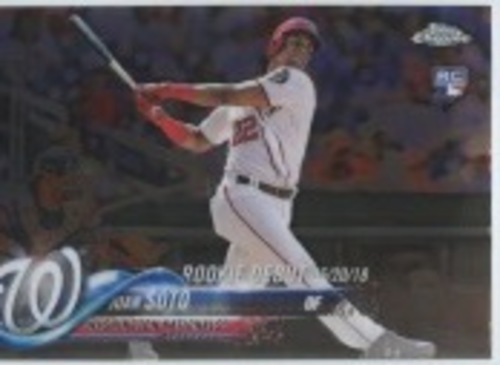 Photo of 2018 Topps Chrome Update #HMT98 Juan Soto Rookie Debut
