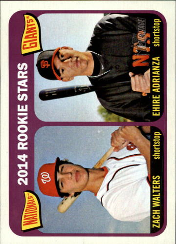 Photo of 2014 Topps Heritage #24 Ehire Adrianza RC/Zach Walters RC