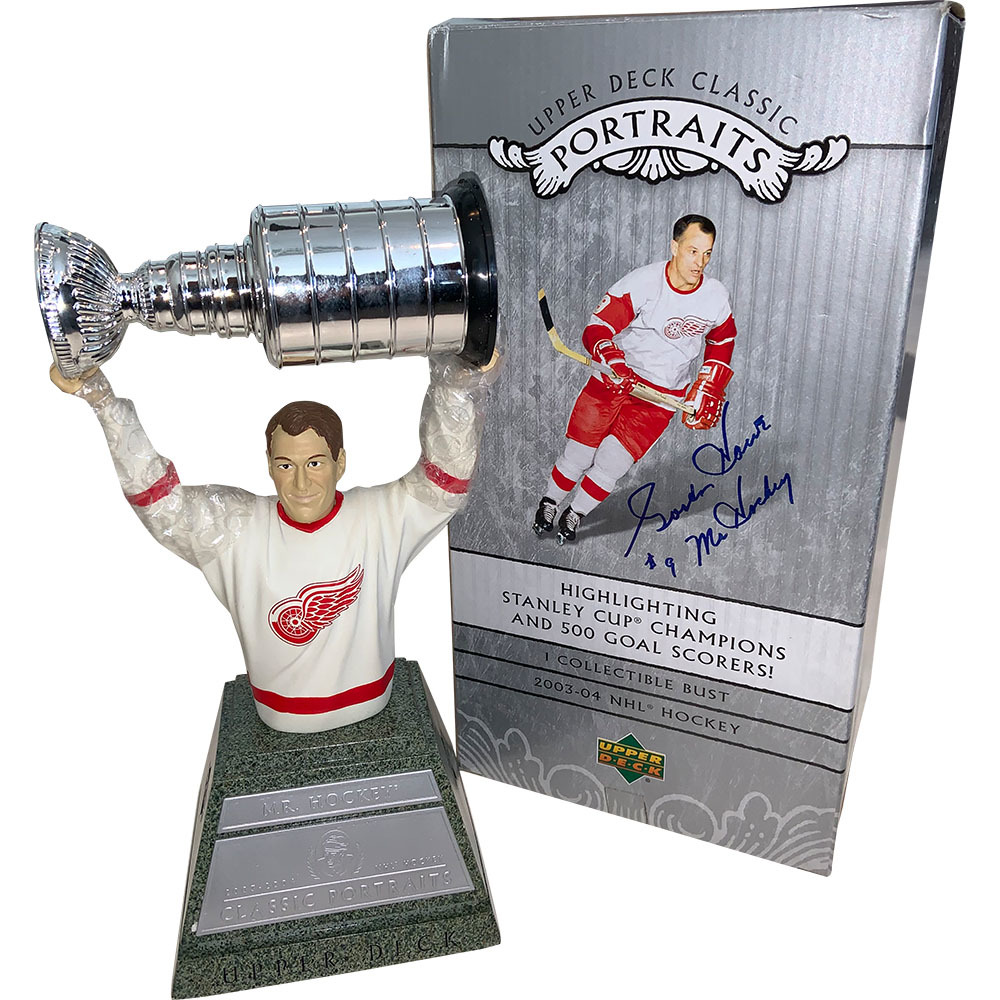 Gordie Howe Twice Autographed 2003-04 Upper Deck Collectible Bust