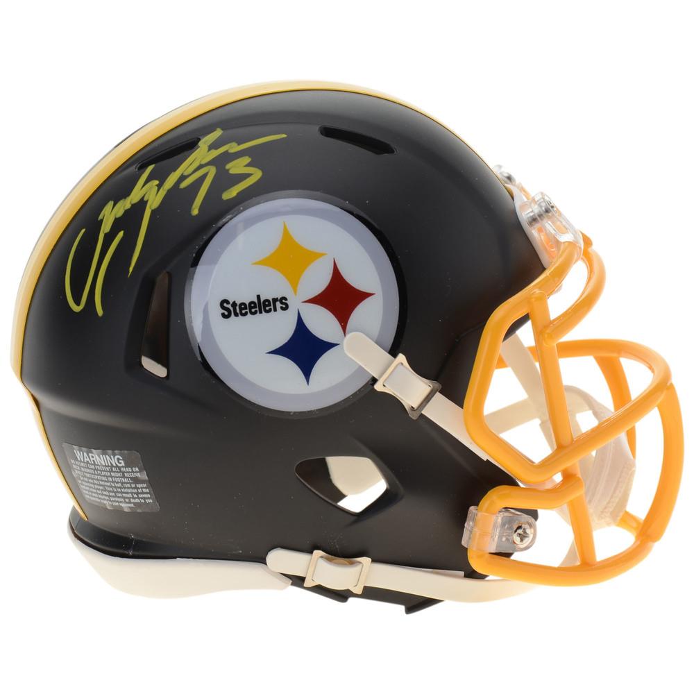 Jack Johnson Pittsburgh Penguins Autographed Pittsburgh Steelers Mini Helmet