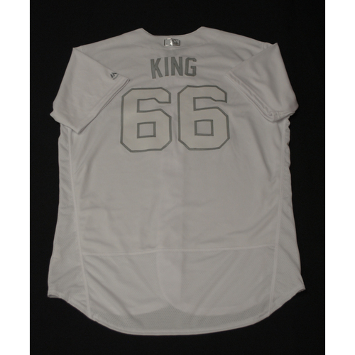 "Photo of Nick ""KING"" Kingham Toronto Blue Jays Team-Issued 2019 Players' Weekend Jersey"