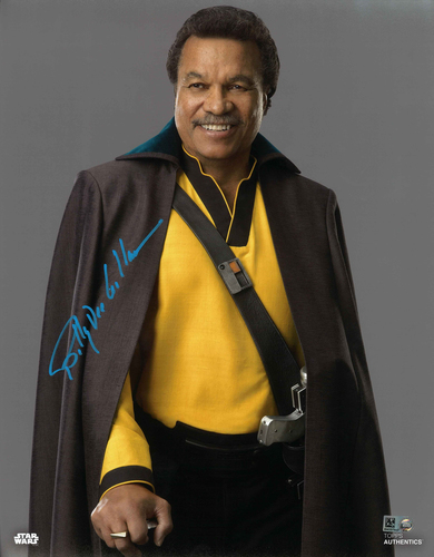 Billy Dee Williams As Lando Calrissian 11X14 AUTOGRAPHED IN 'Blue' INK PHOTO