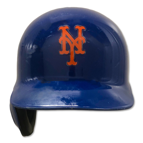 Photo of Brandon Nimmo #9 - Game Used Batting Helmet - Mets vs. Marlins - 9/23/19; Also Worn 9/29/19 - Mets vs. Braves