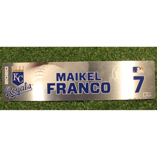 Game-Used Locker Tag: Maikel Franco #7 (DET @ KC 9/24/20)