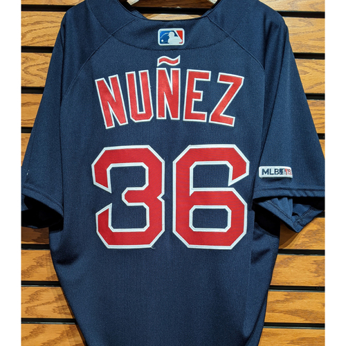 Photo of Eduardo Nunez #36 Team Issued Navy Road Alternate Jersey