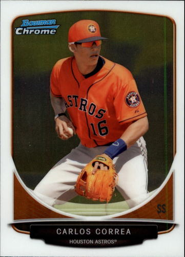 Photo of 2013 Bowman Chrome Draft Top Prospects #TP10 Carlos Correa Pre-Rookie Card