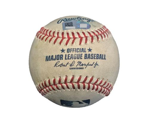 Game-Used Baseball from Pirates vs. Cubs on 4/26/17 - Glasnow to Bryant, 4 Pitches/Foul