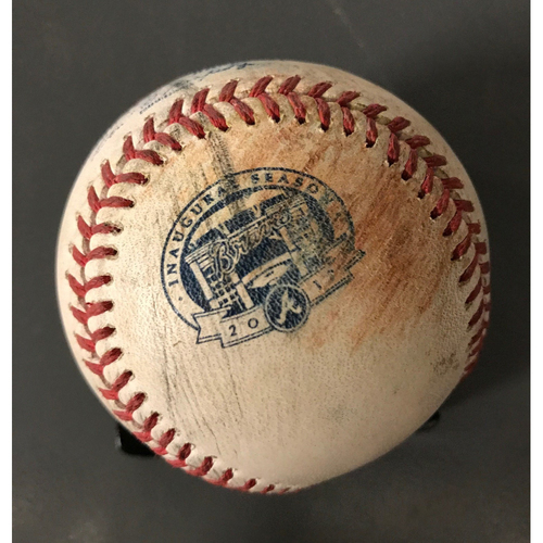 Photo of Game-Used Multi-Hit Baseball - Ender Inciarte and Dansby Swanson Singles
