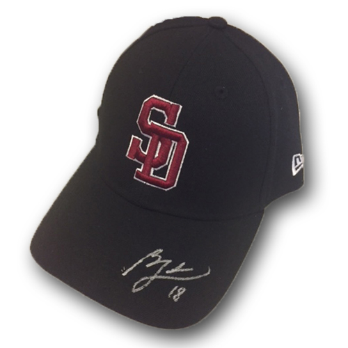 Photo of Ben Zobrist Game-Used and Autographed Marjory Stoneman Douglas High School Style Hat -- Rangers vs. Cubs - 2/24/18