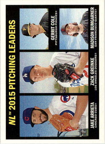 Photo of 2016 Topps Heritage #236 Madison Bumgarner/Gerrit Cole/Zack Greinke/Jake Arrieta