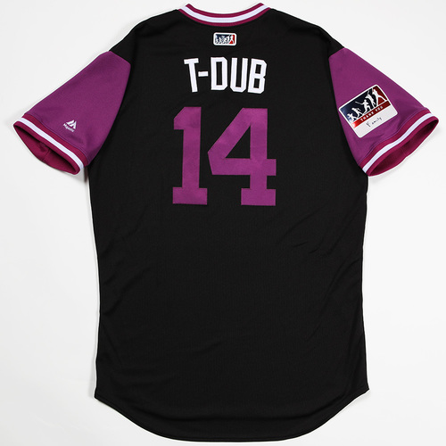 """Photo of Tony """"T-Dub"""" Walters Colorado Rockies Game-Used 2018 Players' Weekend Jersey"""