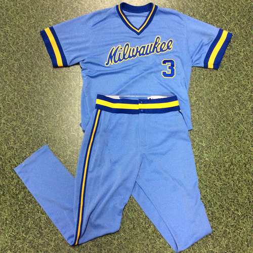 Photo of Orlando Arcia 2018 Game-Used 1983 Throwback Jersey & Pants
