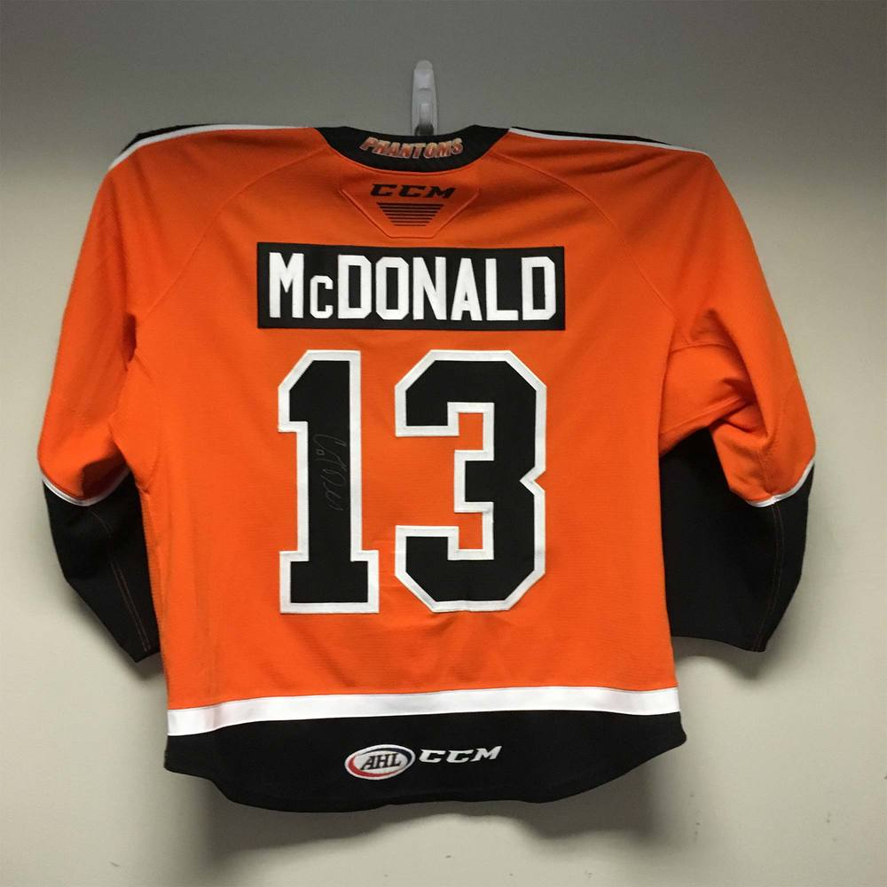 2019 Lexus AHL All-Star Skills Competition Jersey Worn and Signed by #13 Colin McDonald
