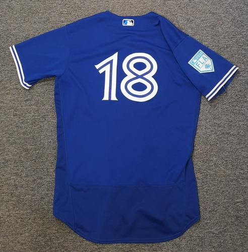 Photo of Authenticated Team Issued 2019 Spring Training Jersey - #18 Dwight Smith Jr. Size 46