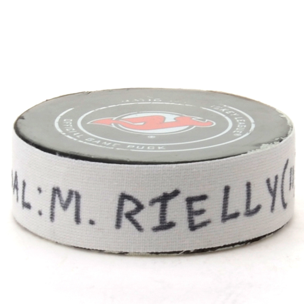 Morgan Rielly Toronto Maple Leafs Game-Used Goal Puck from December 18, 2018 @ New Jersey Devils