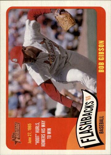 Photo of 2014 Topps Heritage Baseball Flashbacks #BFBG Bob Gibson