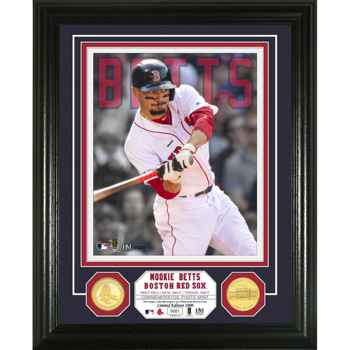 Photo of Mookie Betts Bronze Coin Photo Mint