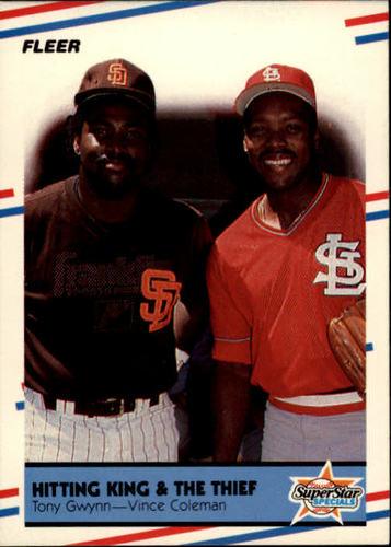 Photo of 1988 Fleer #634 Tony Gwynn/Vince Coleman