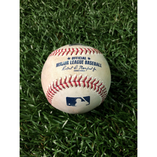 Photo of Game Used Baseball: Anthony Bemboom (MLB Debut) strikeout, Austin Meadows line out and Tommy Pham foul ball off Masahiro Tanaka - May 12, 2019 v NYY