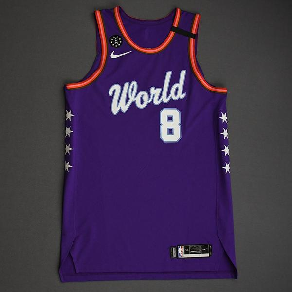 Image of Rui Hachimura - 2020 NBA Rising Stars - Team World - Game-Worn 1st Half Jersey