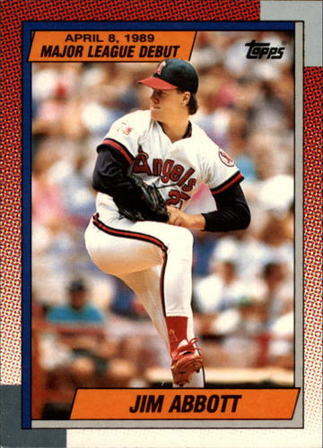 Photo of 1990 Topps Debut '89 #1 Jim Abbott