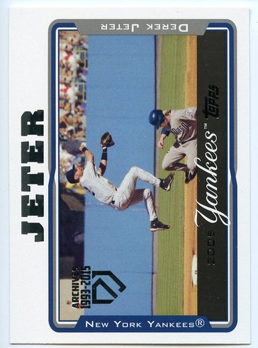 Photo of 2017 Topps Archives Derek Jeter Retrospective #DJ13 Derek Jeter/'05 Topps REPRINT