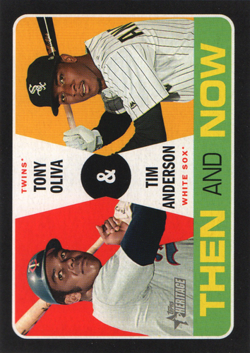Photo of 2020 Topps Heritage Then and Now #TN10 Tim Anderson/Tony Oliva