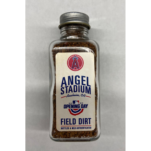 Photo of 2020 Opening Day Game-Used Dirt Jar - Angels Stadium