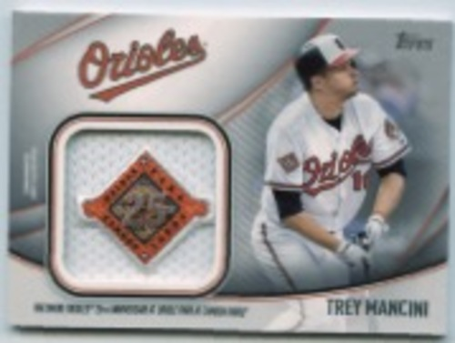 Photo of 2020 Topps Jumbo Special Event Jersey Sleeve Patches #JSESTM Trey Mancini