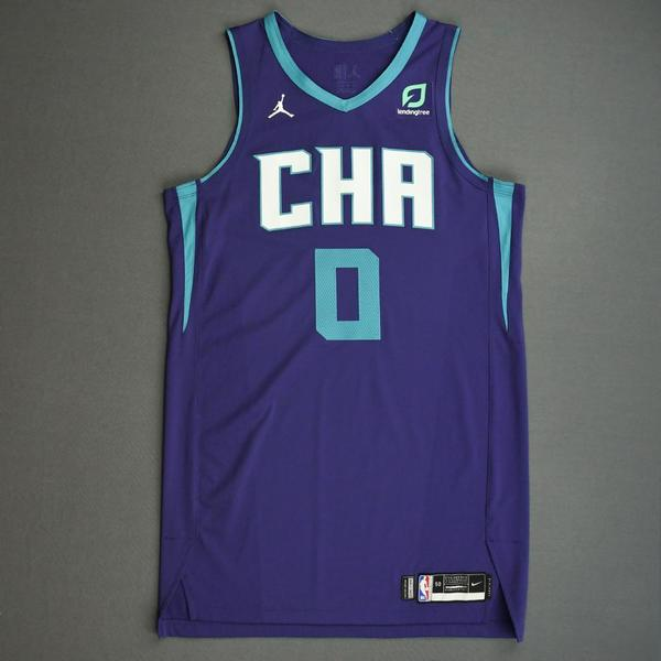 Image of Miles Bridges - Charlotte Hornets - Game-Worn Statement Edition Jersey - 2019-20 NBA Season