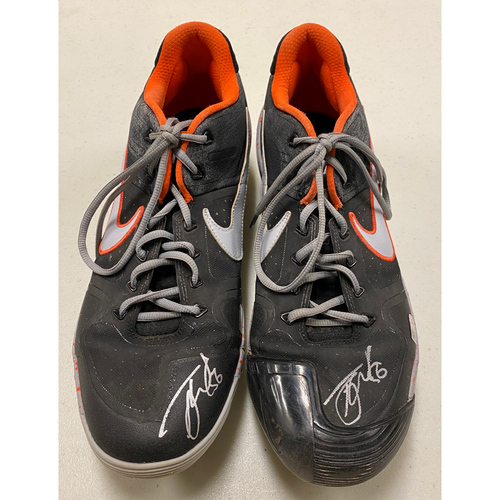 Photo of 2020 Cyber Monday Sale - #56 Tony Watson Autographed Black & Gray Nike Cleats - Size 14