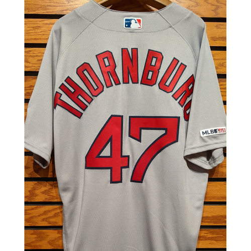 Photo of Tyler Thornburg #47 Team Issued Road Gray Jersey