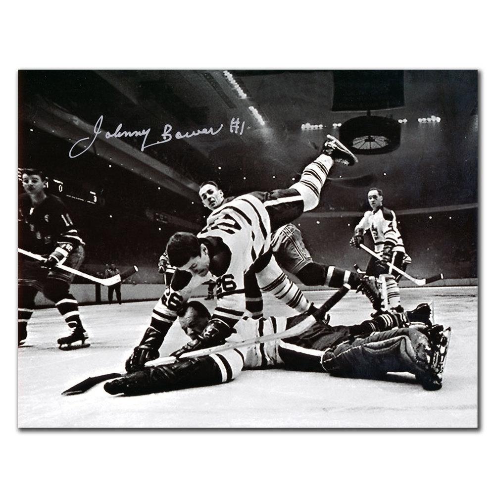 Johnny Bower Toronto Maple Leafs NetCam Autographed 8x10