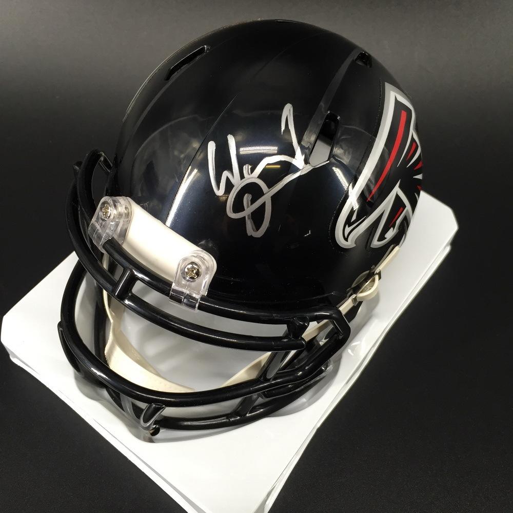 Legends - Falcons Warrick Dunn Signed Mini Helmet