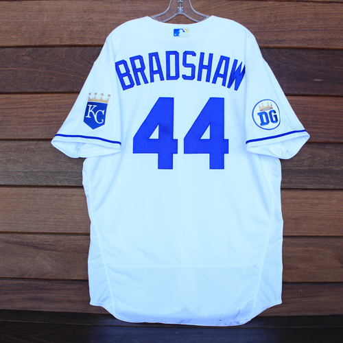 Photo of Game-Used 2020 Los Reales Jersey: Terry Bradshaw #44 (PIT @ KC 9/12/20) - Size 48