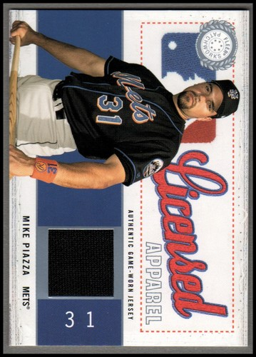 Photo of 2003 Fleer Patchworks Licensed Apparel Jersey #MP Mike Piazza