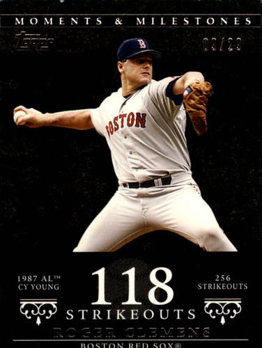 Photo of 2007 Topps Moments and Milestones #20-118 Roger Clemens/SO 118