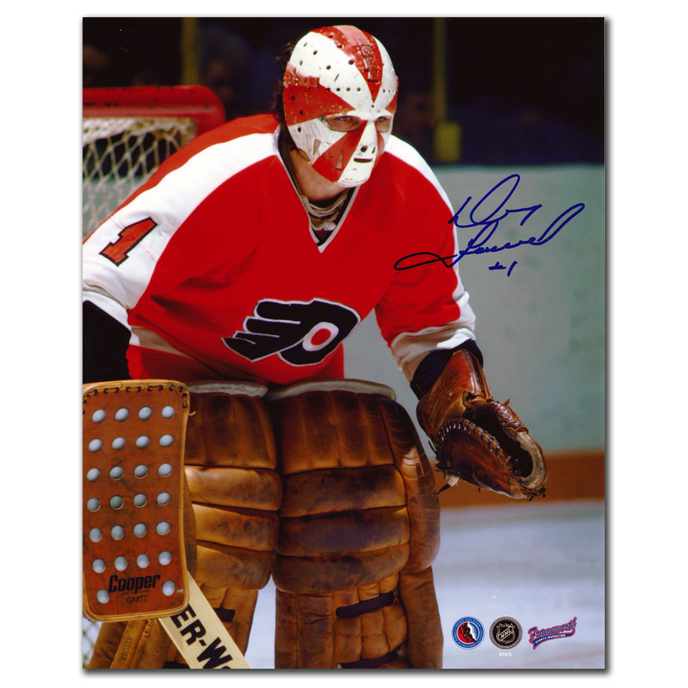 Doug Favell Philadelphia Flyers CLOSE UP Autographed 8x10