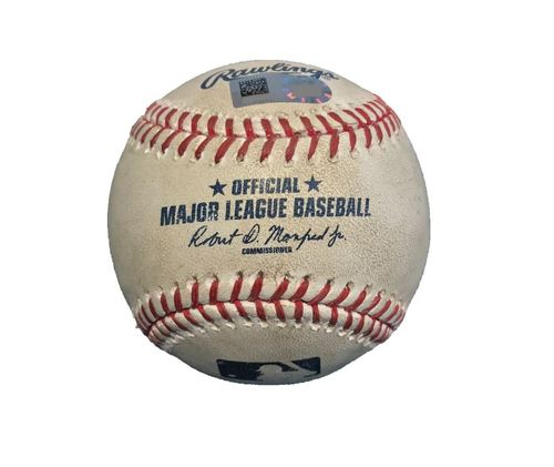 Game-Used Baseball from Pirates vs. Cubs on 4/26/17 - Lester to Polanco, Ground Out