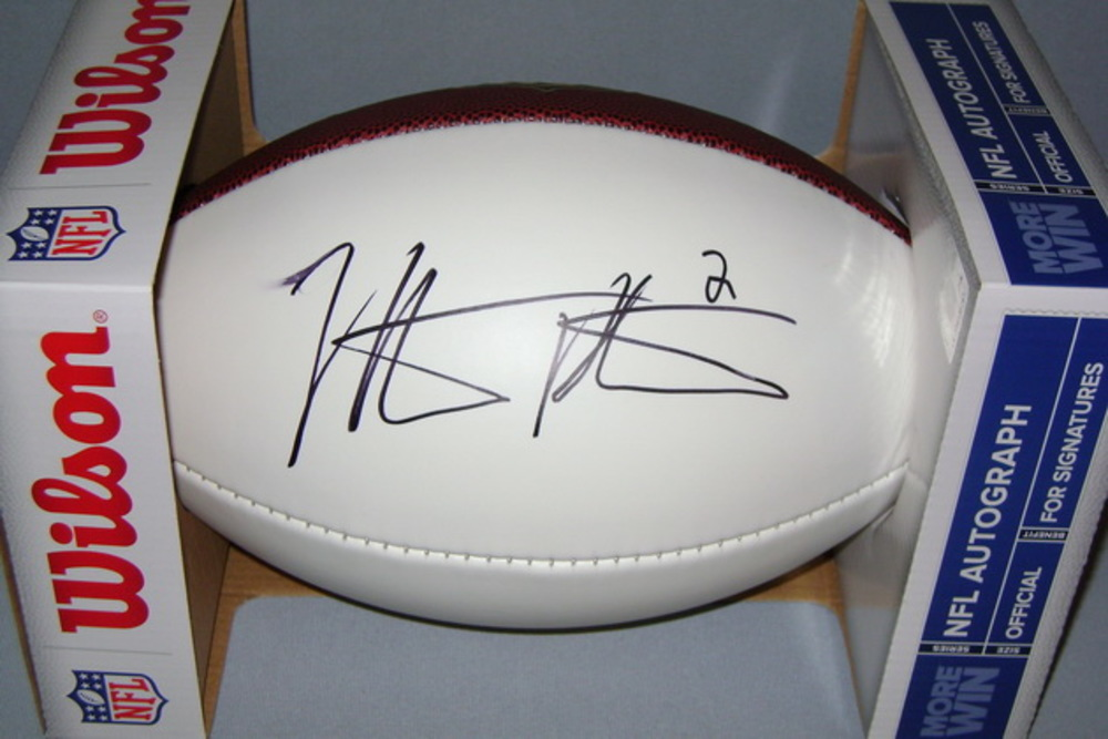 NFL - RAIDERS NATHAN PETERMAN SIGNED PANEL BALL
