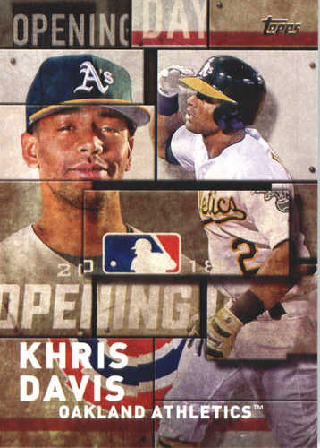 Photo of 2018 Topps Opening Day Insert #OD24 Khris Davis