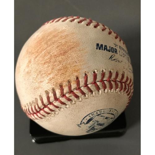 Photo of Ender Inciarte Game-Used Hit Single Baseball - 5/24/17