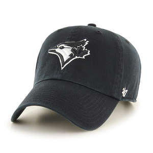 Toronto Blue Jays Black and White Logo Clean Up Cap by '47 Brand