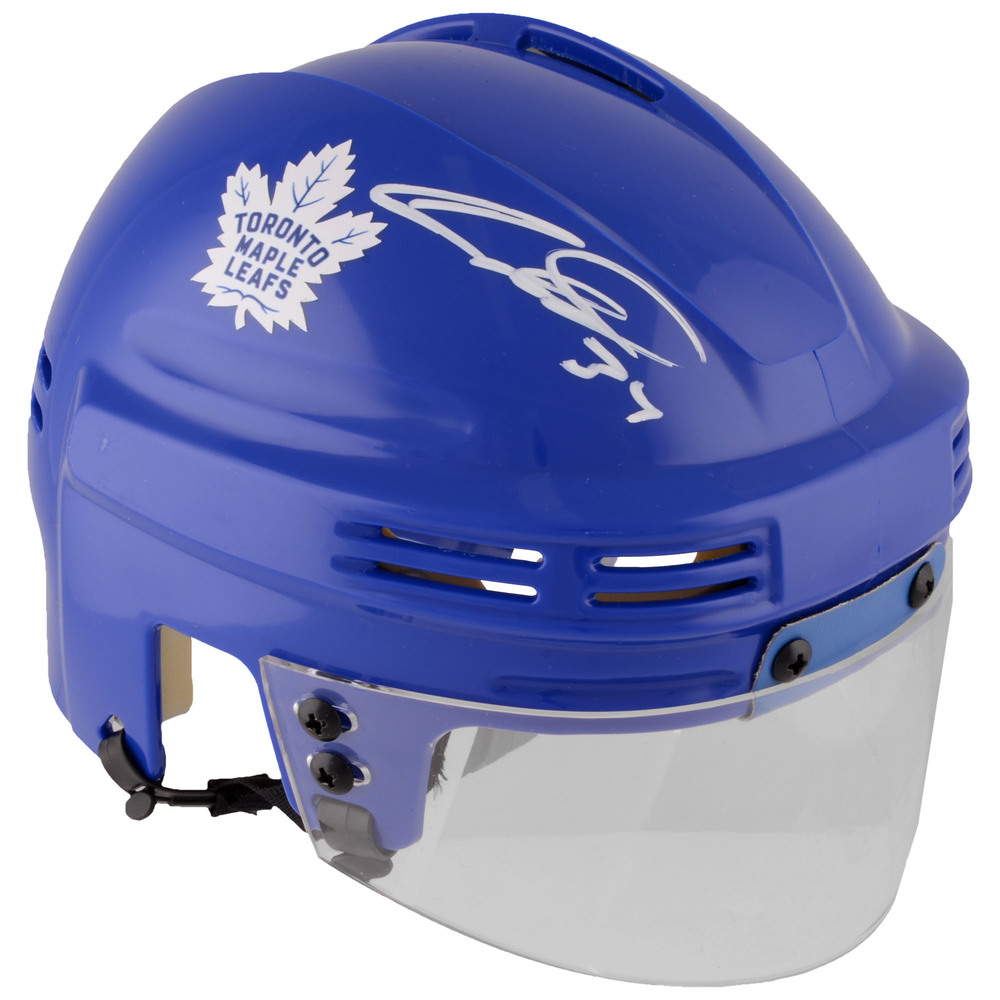 Auston Matthews Toronto Maple Leafs Autographed Blue Mini Helmet