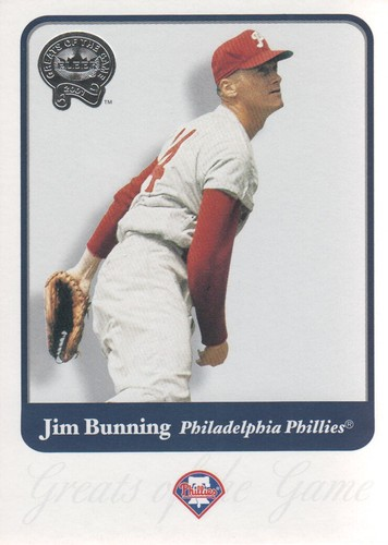 Photo of 2001 Greats of the Game #92 Jim Bunning Hall of Fame Class of 1996