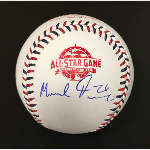 Photo of Mike Foltynewicz Autographed 2018 All-Star Game Baseball