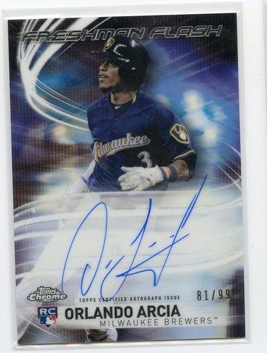 Photo of 2017 Topps Chrome Freshman Flash Autographs #FFAOA Orlando Arcia