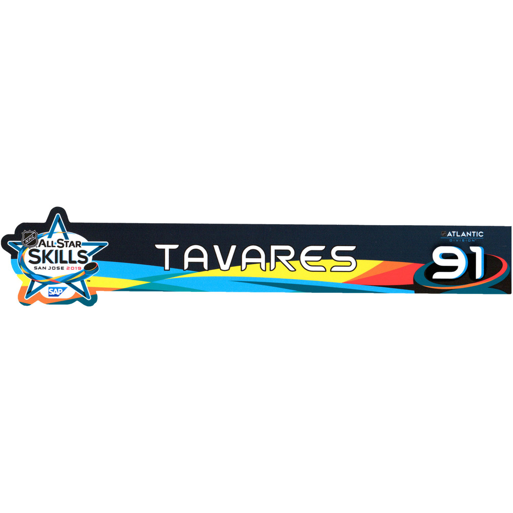 John Tavares Toronto Maple Leafs Event-Used #91 Locker Nameplate from All-Star Skills Competition